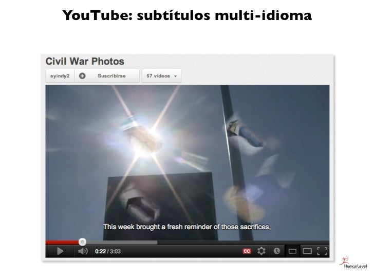 YouTube: subtítulos multi-idioma