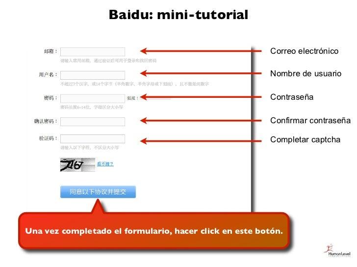 Baidu: mini-tutorial                                                         Correo electrónico                           ...