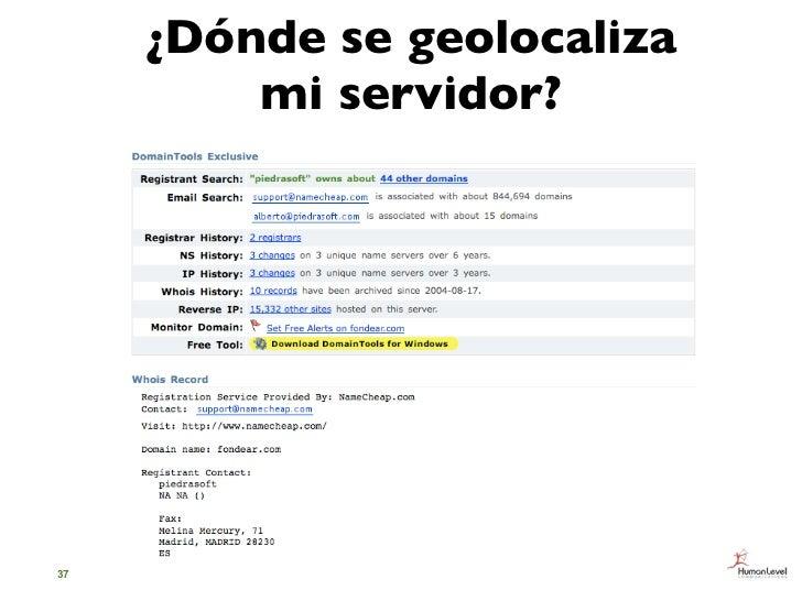 ¿Dónde se geolocaliza         mi servidor?37