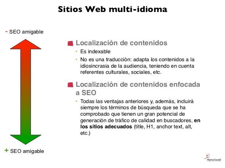 Sitios Web multi-idioma- SEO amigable                    Localización de contenidos                    • Es indexable     ...