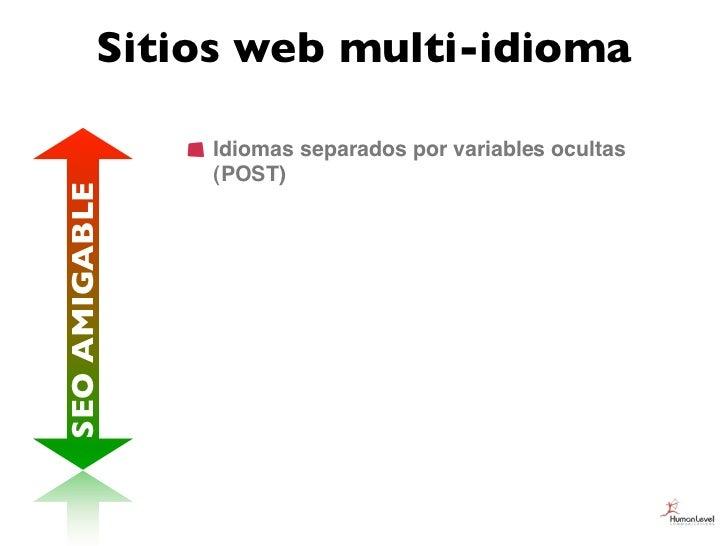 Sitios web multi-idioma               Idiomas separados por variables ocultas               (POST)SEO AMIGABLE