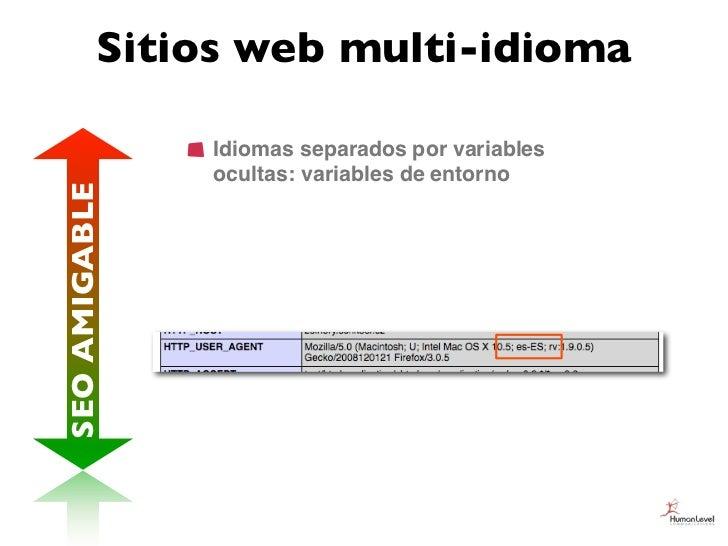 Sitios web multi-idioma               Idiomas separados por variables               ocultas: variables de entornoSEO AMIGA...