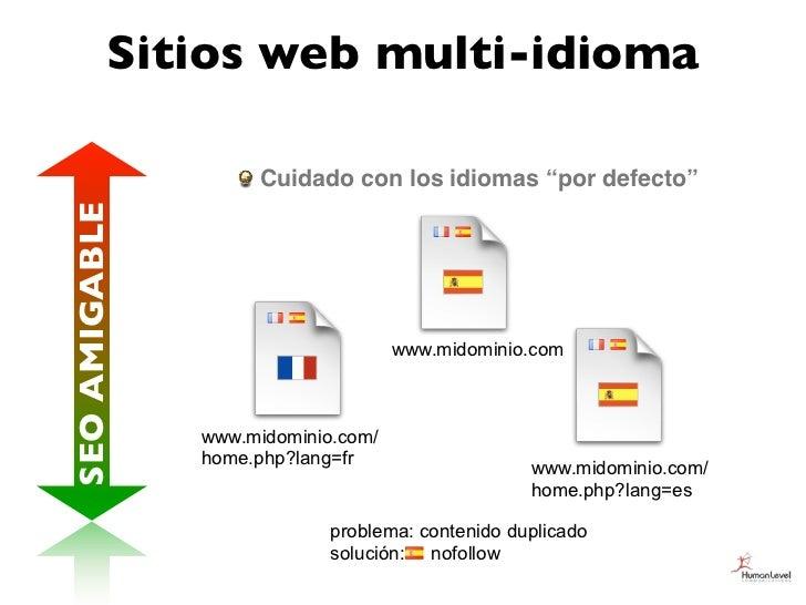 """Sitios web multi-idioma                    Cuidado con los idiomas """"por defecto""""SEO AMIGABLE                              ..."""