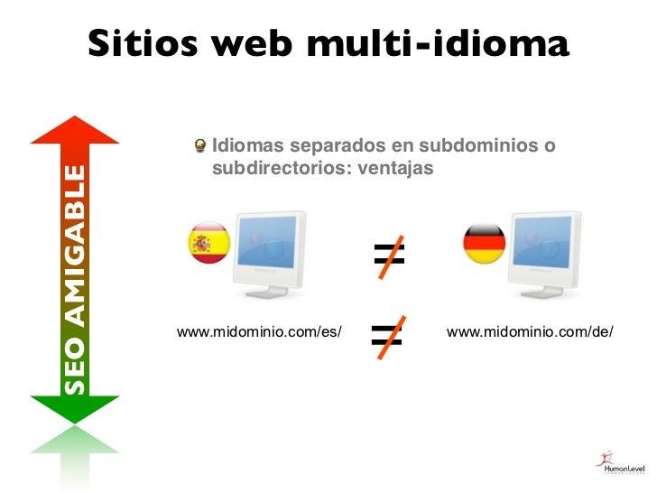 Sitios web multi-idioma                   Idiomas separados en subdominios o                   subdirectorios: ventajasSEO...