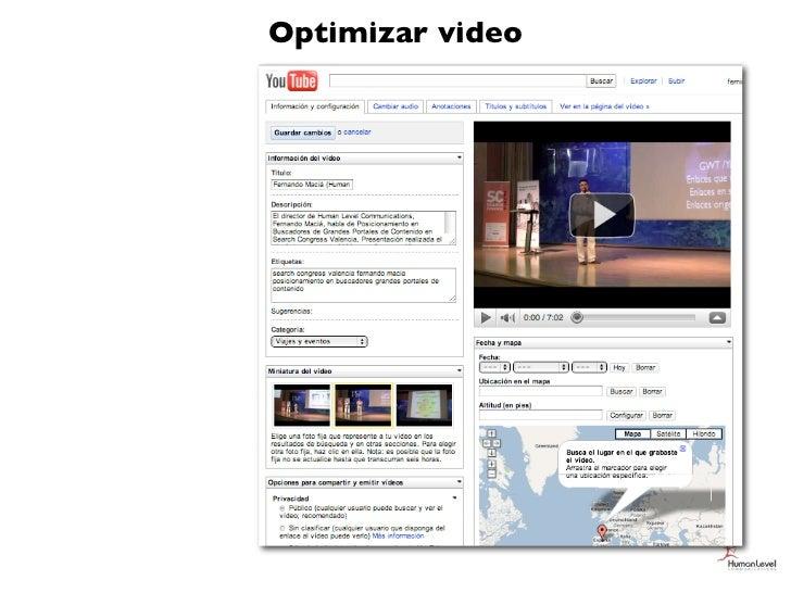 Optimizar video