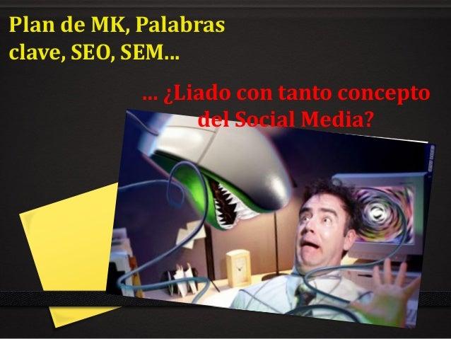 Plan de MK, Palabras clave, SEO, SEM... … ¿Liado con tanto concepto del Social Media?