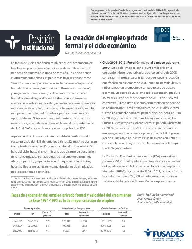 """Como parte de la evolución de la imagen institucional de FUSADES, a partir de diciembre de 2013, la publicación """"Memorándu..."""