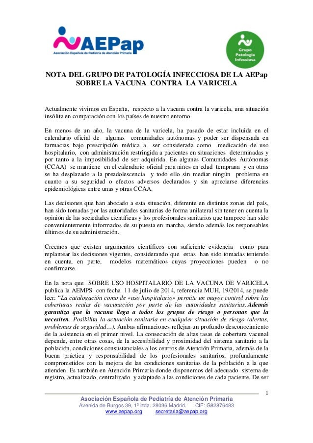 Asociación Española de Pediatría de Atención Primaria Avenida de Burgos 39, 1º izda. 28036 Madrid. CIF: G82876483 www.aepa...