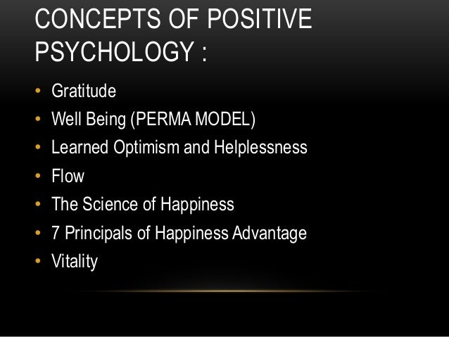 Positive Psychology Reflection