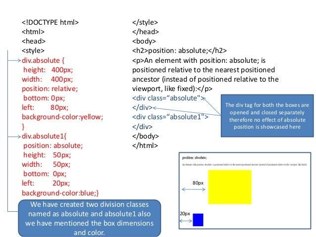 Div class background color idee per la casa for Html div position