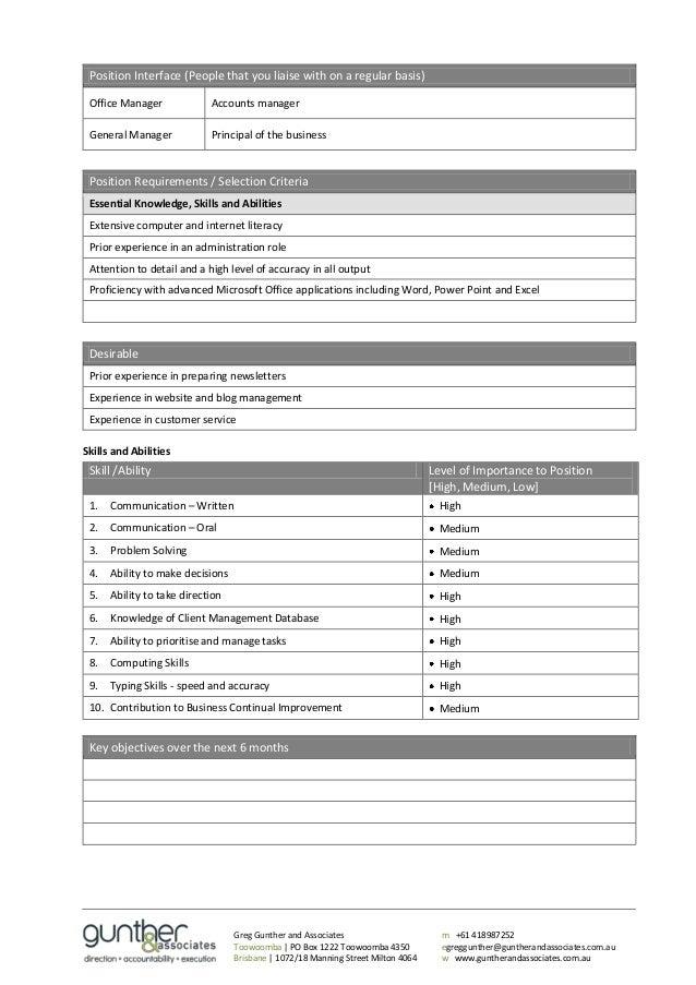 Position Interface ...  Job Description Template Word
