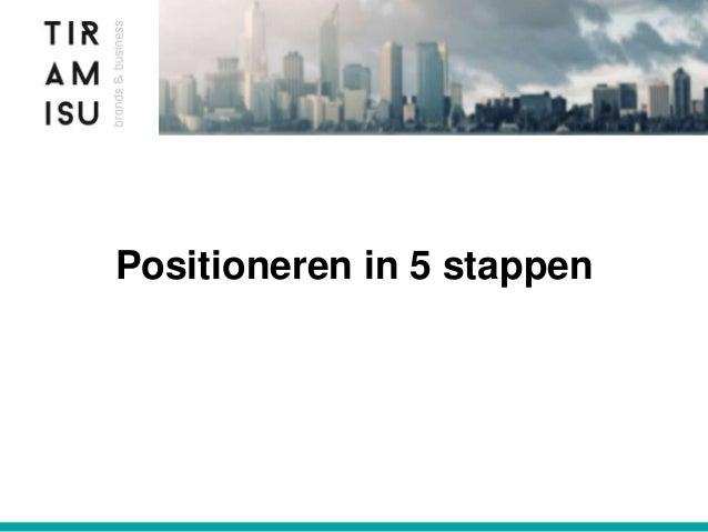 Positioneren in 5 stappen