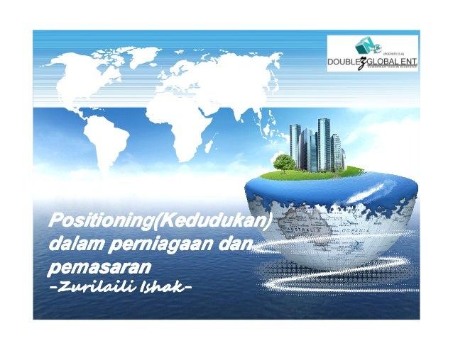 LOGOPositioning(Kedudukan)Positioning(Kedudukan)dalam perniagaan danpemasaran-Zurilaili Ishak-