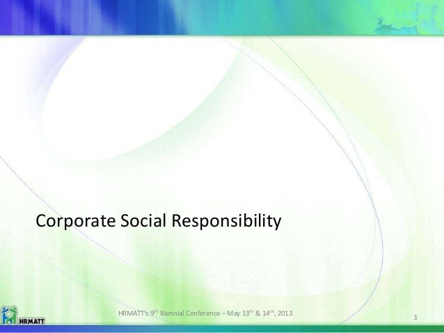 hrm and corporate social responsibility Corporate social responsibility is a type of international private business self- regulation  of csr literature, covering 700 academic sources from numerous  fields including organizational behaviour, corporate strategy, marketing and hrm.