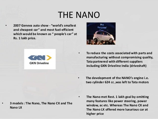 tata nano positioning statement With tata nano being launched in the indian market it now gave the  had  mentioned that he wanted to position tata nano as an 'affordable,.