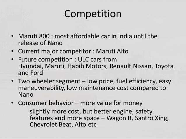 Positioning of TATA Nano