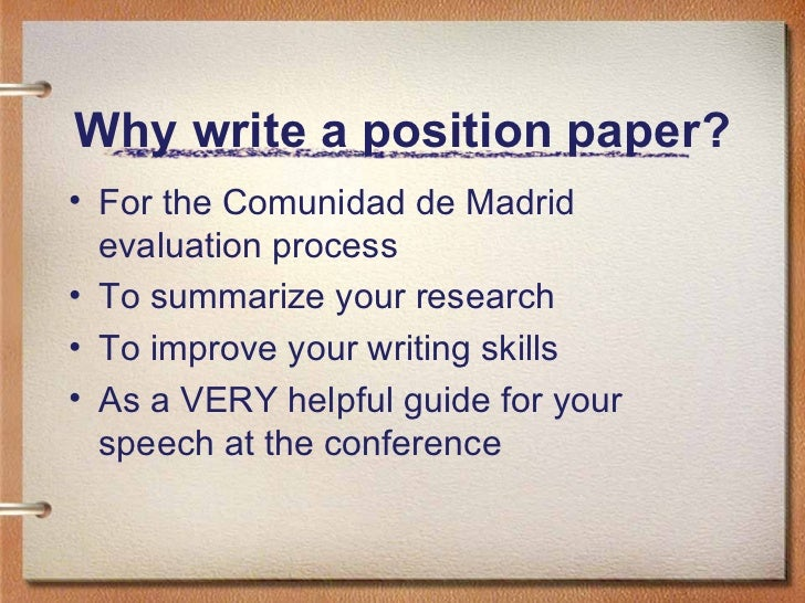 writing a position paper