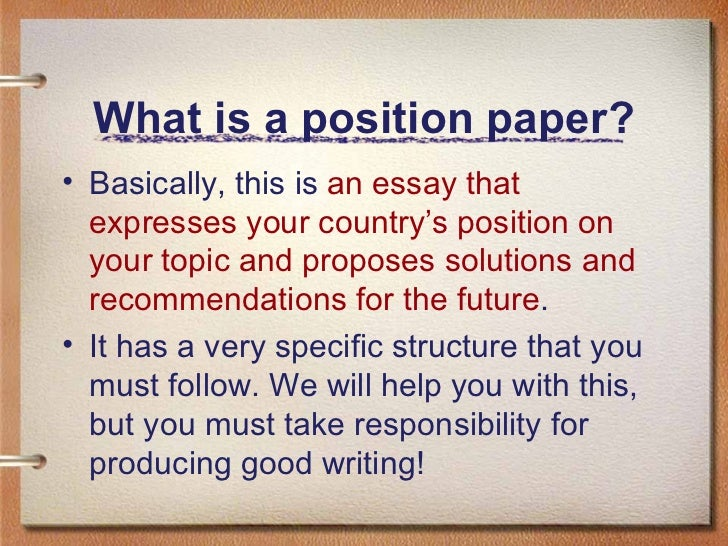 How to write position paper ppt