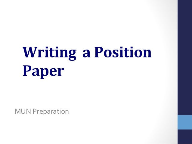 Position Paper Strategy