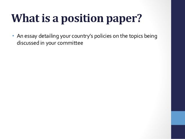 position paper topic ideas