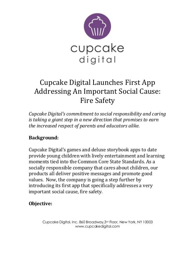 Cupcake Digital, Inc. 860 Broadway,3rd Floor, New York, NY 10003 www.cupcakedigital.com Cupcake Digital Launches First App...