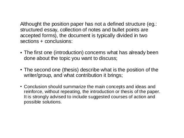 La cura summer school how to position paper