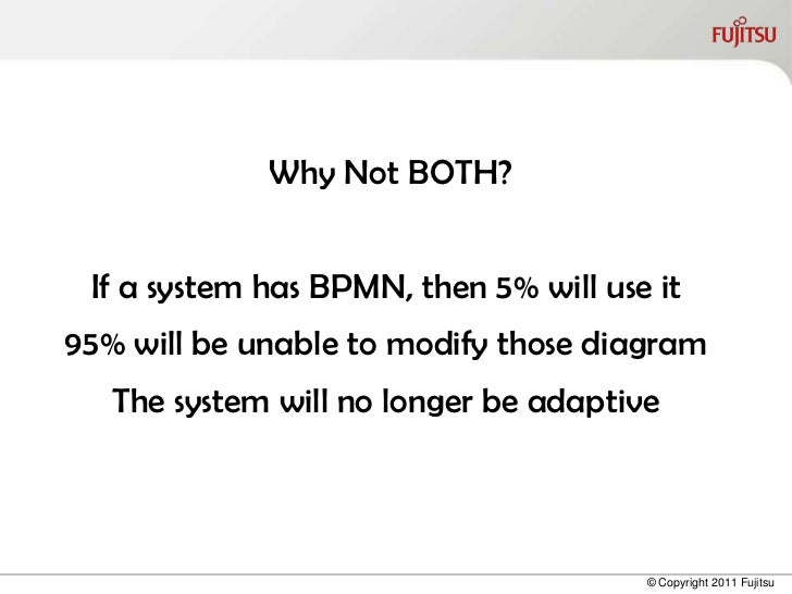 Why Not BOTH? If a system has BPMN, then 5% will use it95% will be unable to modify those diagram   The system will no lon...