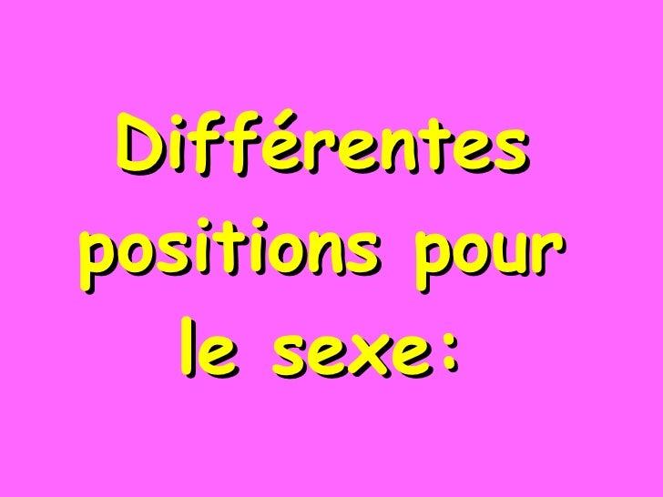Différentes positions pour le sexe: