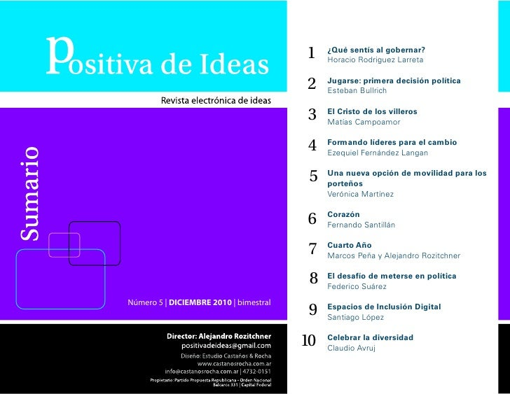 Positiva de Ideas Número 5