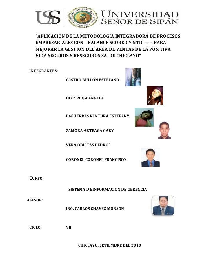 """114300-685800<br />""""APLICACIÓN DE LA METODOLOGIA INTEGRADORA DE PROCESOS EMPRESARIALES CON    BALANCE SCORED Y NTIC ----- ..."""
