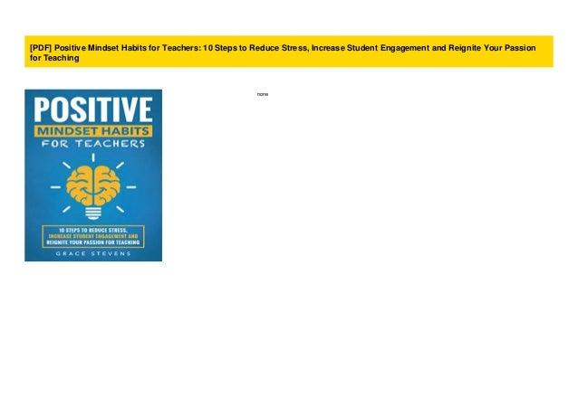 PDF Positive Mindset Habits for Teachers: 10 Steps to ...
