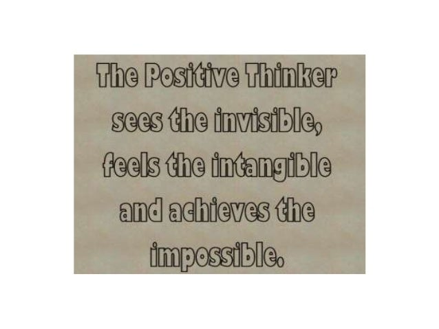 When it comes to positive thinking... Attitude is everything.