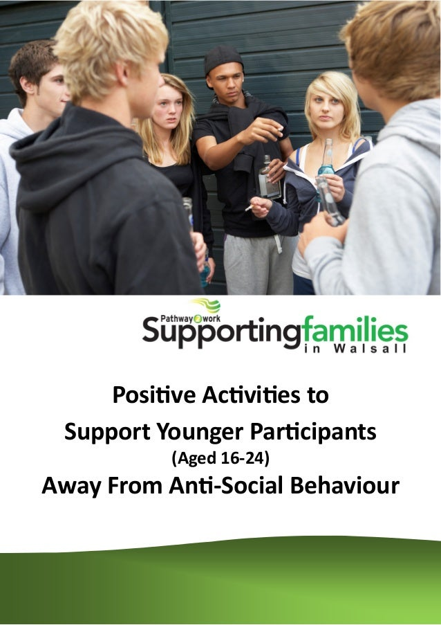 Positive Activities to Support Younger Participants (Aged 16-24) Away From Anti-Social Behaviour