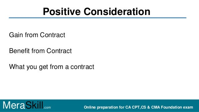 Positive and negative consideration Slide 2