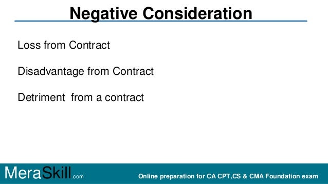 Positive and negative consideration Slide 3