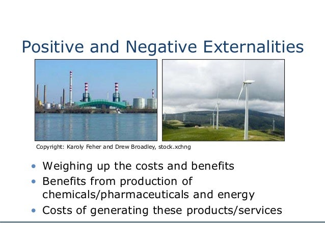 positive and negative externalities Advertisements: economic externalities: meaning, types and effects meaning and definition: externalities occur because economic agents have effects on third parties that are not parts of market transactions.