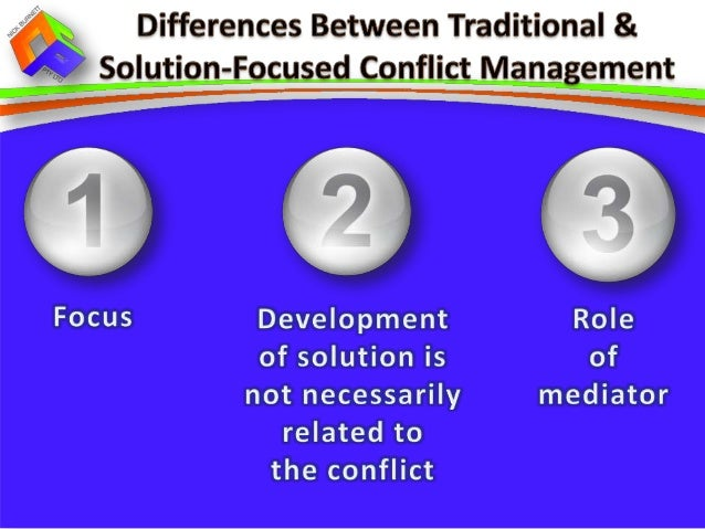 explain the agreed ways of working in relation to conflict management Even though the conflict may not be solved in the interaction, the verbal assurances of commitment imply that there is a willingness to work on solving the conflict in the future, which provides a sense of stability that can benefit the relationship.