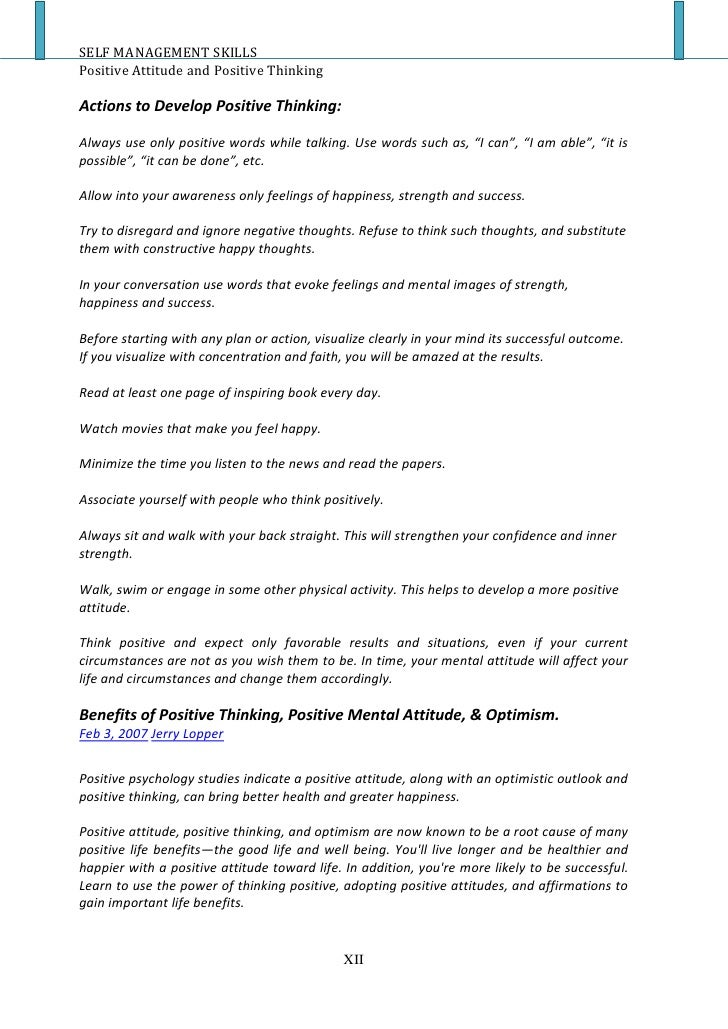 on positive attitude positive thinking essay thoughtful living