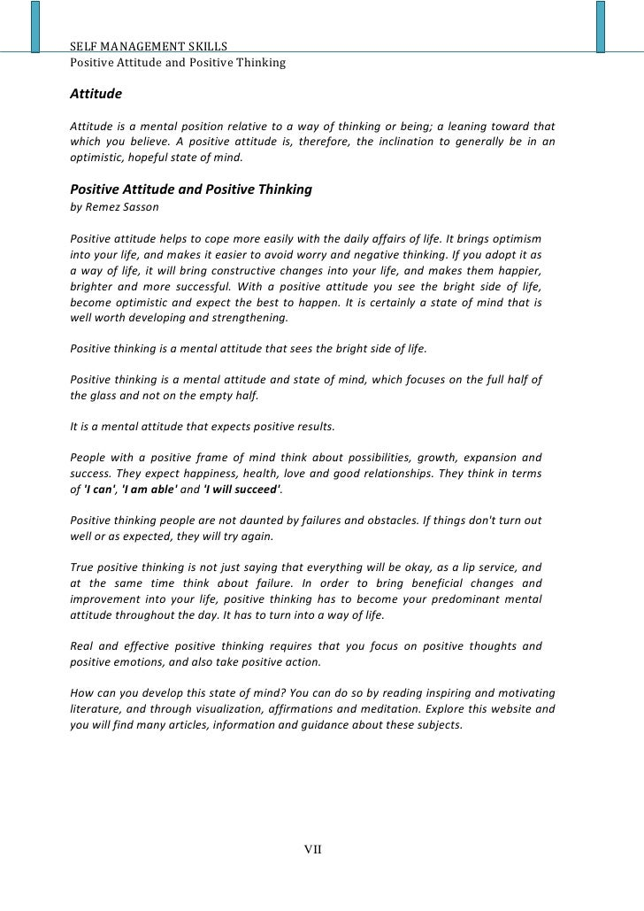 positive thinking paper Selected essays on the importance and techniques to use positive psychology, positive thinking, positive mental attitude to achieve success in life.