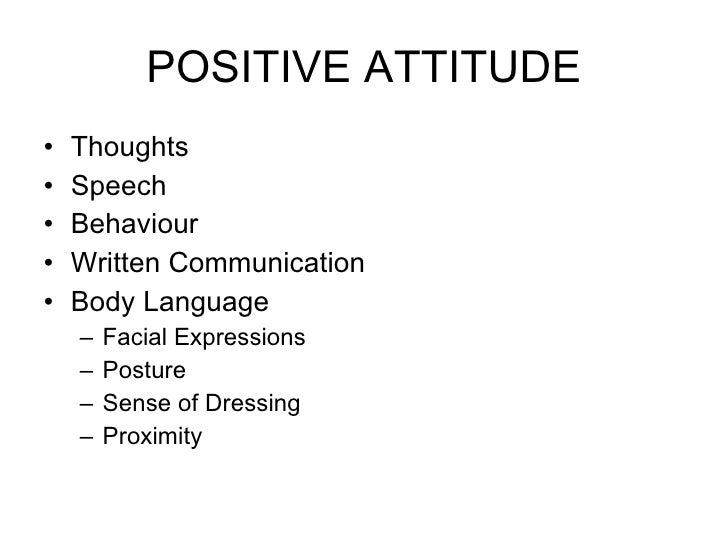 positive attitude assertiveness and influencing positive attitude