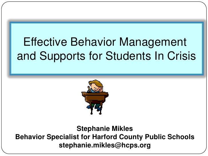 Positive behavior management for paras
