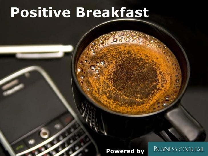 Powerpoint Templates Positive Breakfast Powered by