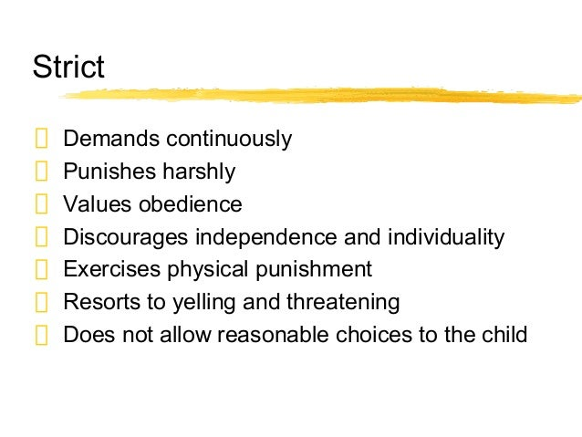 Learn self control discipline and punish