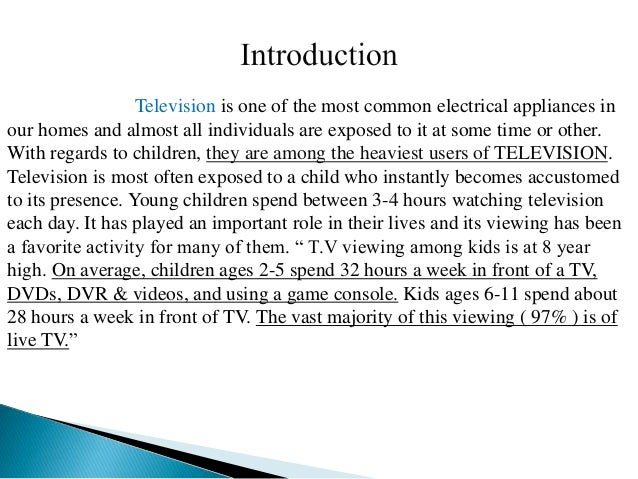your children and tv essay Effects of television violence on children and teenagers the effects of television violence on children essay - it effects of tv violence on children.
