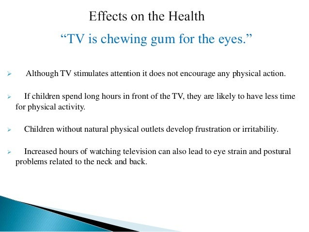 positive effects of television