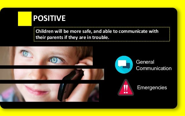 Positive & negative effects of mobile phones on kids