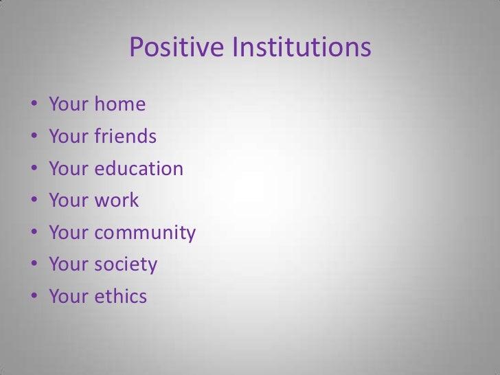 application of positive psychology pdf
