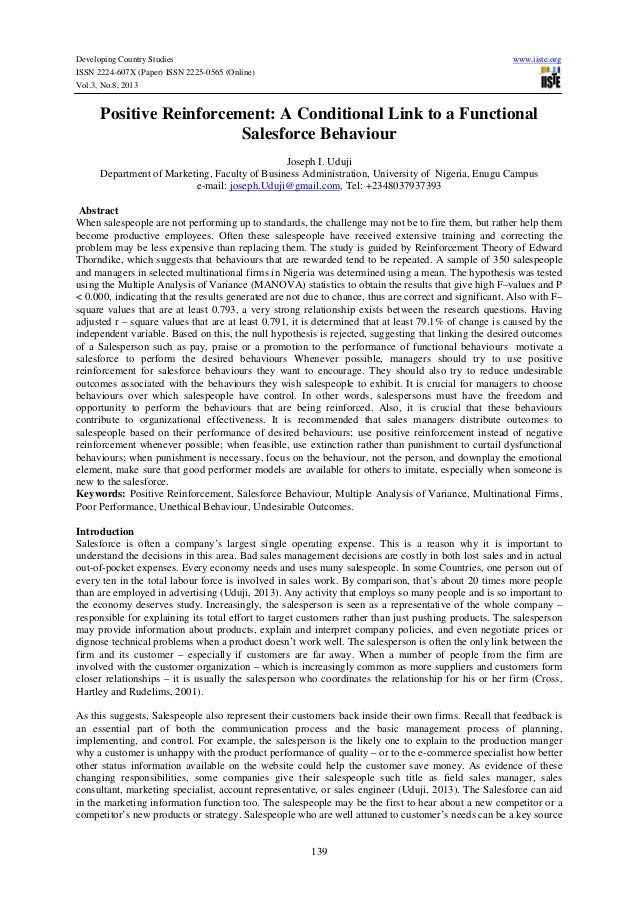 positive reinforcement research papers Reinforcement research paper hdpe as the burrhus frederic skinner positive reinforcement research papers, b.