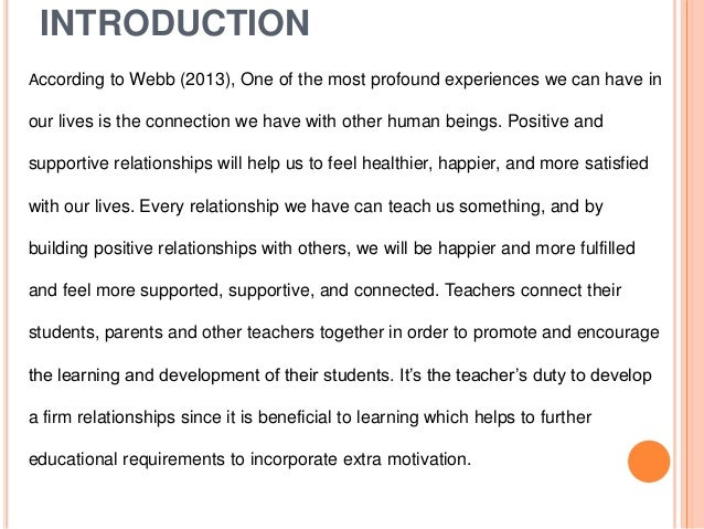 Can a teacher have a relationship with a parent
