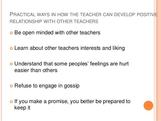 Ethics teachers dating parents